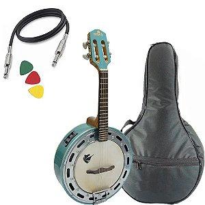 Banjo Marquês Baj88 Azul Eletrico Capa Afinador Profissional