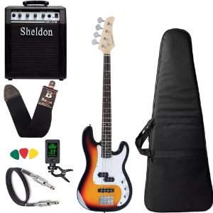 Kit Baixo Strinberg Pbs40 Sunburst Precision + Amplificador