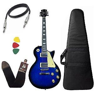 Guitarra Les Paul Strinberg Lps230 Azul Blue Com Capa Bag