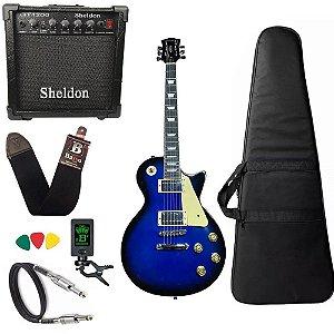 Guitarra Les Paul Strinberg Lps230 Azul cubo Amplificador