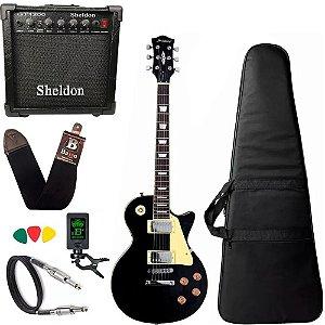 Guitarra Les Paul Strinberg Lps230 Bk Preta C/ Amplificador