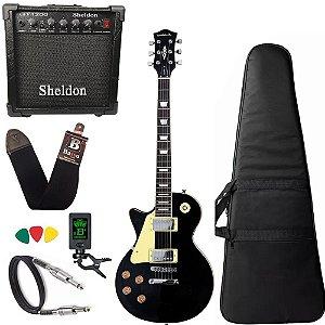 Guitarra Canhoto Lespaul Strinberg Lps230 Preto Amplificador