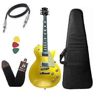 Guitarra Les Paul Strinberg Lps230 Gold Gd Com Capa Bag