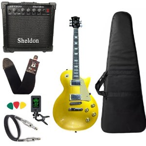 Guitarra Les Paul Strinberg Lps230 Gold Gd C/ Amplificador