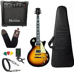 Guitarra Les Paul Strinberg Lps230 Sunburst C/ Amplificador