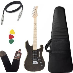 Guitarra Strinberg Sgs180 Preto Strato Humbucker Capa Bag