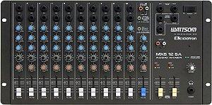Mesa De Som 12 Canais Stereo Ciclotron Wattsom Mxs 12 Sd