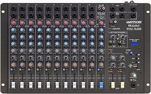 Mesa De Som 12 Canais Stereo Ciclotron Wattsom Amw 12 Esd