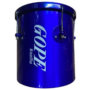 Repique De Mão Gope Azul Selfie Pele Cristal 10Pol X 30cm