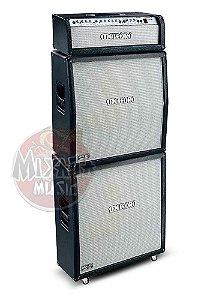 Kit completo Cabeçote Meteoro Wector 3 pre valvulado + 2 Caixas 4x12 600 watts - profissional