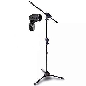 Suporte Pedestal Para Microfone Ibox Girafa Smmax + Cachimbo