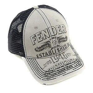 Boné  Fender Logo Stratocaster Trucker
