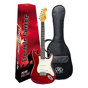 Guitarra Sx Vintage Sst62 Vermelho Com Capa Bag