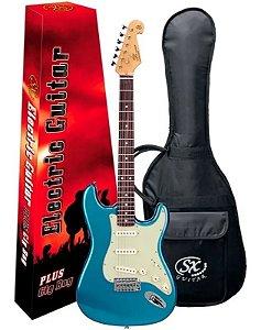 Guitarra Sx Vintage Sst62  Azul Com Capa Bag