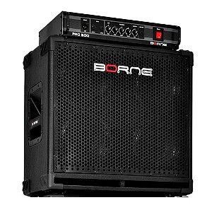 Kit Borne Baixo Cabeçote Pro 500 400w Rms E Caixa 408 Linha Profissional