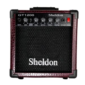 Amplificador Guitarra 15w Cubo Caixa Sheldon Gt1200 Bordo
