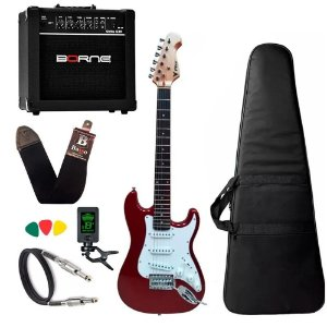 Kit Guitarra Infantil Phx 3/4 Ist1 Vermelha Caixa Borne G30