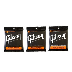 3 Encordoamentos Gibson 011 Brite Wires Cordas Guitarra