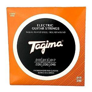 Encordoamento Jogo De Cordas Tagima Guitarra 010