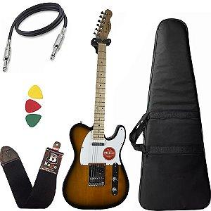 Guitarra Telecaster Fender Squier Affinity Sunburst Capa Bag
