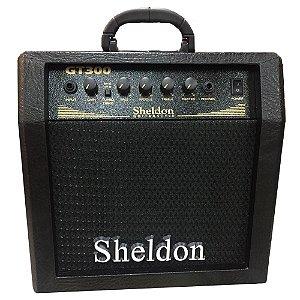 Amplificador Sheldon Gt300 30w Guitarra Cubo Preto Distorção