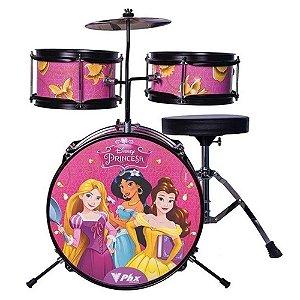Bateria Phx Disney Infantil Princesas Gold Rosa