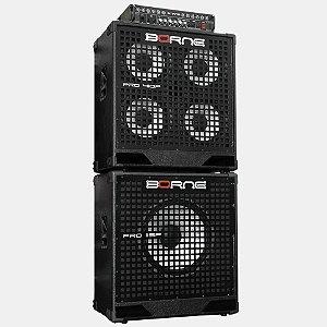 Kit Cabeçote Borne Pro 800 - 500w + Caixa 4x10 + Caixa 1x15 -kit profissional pro800