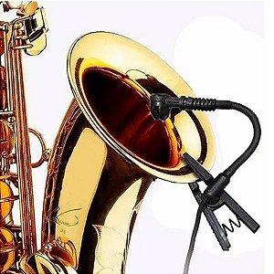 Microfone Sennheiser Instrumento Sopro Black Bug Mu500