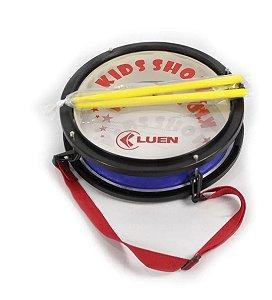 Caixa Infantil Luen Kids Show 7 x 10 Polegadas Com alça e baquetas azul