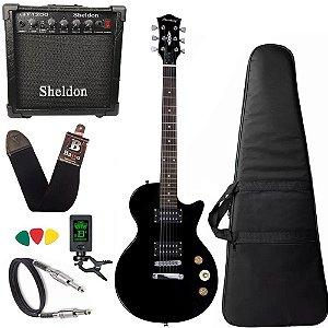 Guitarra Les Paul Strinberg Lps200 Preto Bk C/ Amplificador