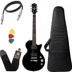 Guitarra Les Paul Strinberg Lps200 Preto Bk Capa Bag correia