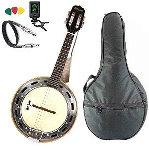 Kit Banjo Elétrico Rozini Rj11 Preto Profissional Bag Capa
