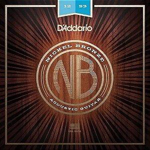 Encordoamento Daddario Aço Cordas Nickel Bronze Violão 012 Nb1253