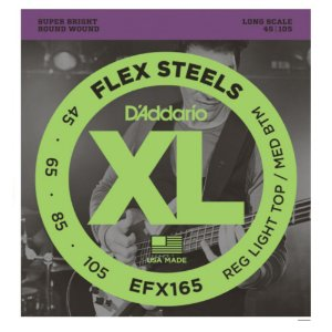 Encordoamento Daddario Baixo 4 Cordas Flex Steels 045 Efx165
