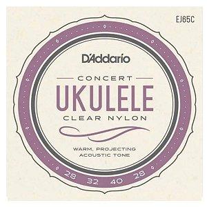 Encordoamento Daddario Ukulele Concert Nylon Ej65c