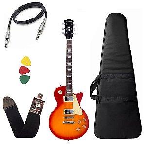 Kit Guitarra Les Paul Strinberg Lps230 Cherry Sunburst Capa Bag