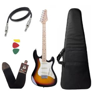 Kit Guitarra Strinberg Sts100 Sb Sunburst Stratocaster Capa Bag