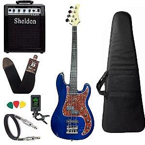 Kit Baixo Strinberg Pbs40 Tbl Azul Precision Amplificador Sheldon