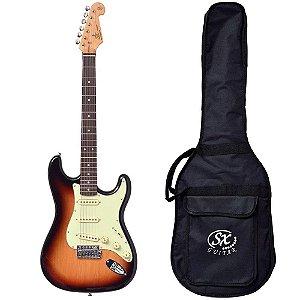 Guitarra SX SST62 Sunburst Vintage  3Ts Capa