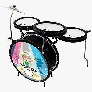 Bateria Infantil Luen Smart Drum Percussion Preta