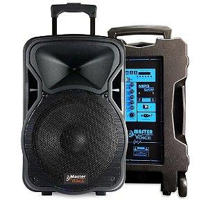 Caixa Ativa Amplificada Master Voice 15 Mv315 Bateria Portátil Bt Usb
