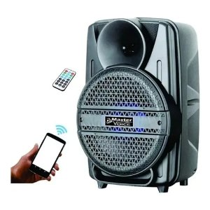 Caixa Ativa Amplificada Master Voice 8 Mv8 Bateria Portátil Bt Usb