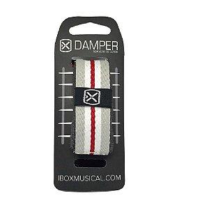 Damper Abafador Ibox Tecido Cinza Listrado Médio Dkmd01