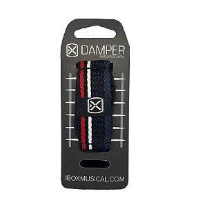 Damper Abafador Ibox Tecido Preto Listrado Médio Dkmd05