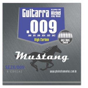 Encordoamento Mustang Phx Guitarra 009 High Carbon Se2x-009