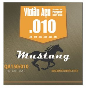 Encordoamento Mustang Phx Violão Aço Phosphor Bronze 010