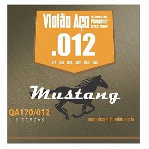 Encordoamento Mustang Phx Violão Aço Phosphor Bronze 012