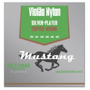 Encordoamento Mustang Phx Violão Nylon Tensão Média Qc5-2843
