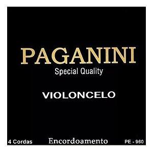 Encordoamento Paganini Completo  P/ Violoncelo Pe960