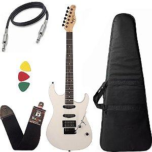 Kit Guitarra Tagima Tg510 Branco WH DF  Series Superstrato Capa